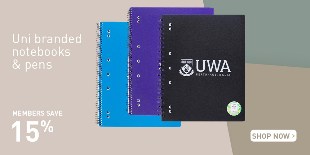 Members save 15% on Notepads and Pens