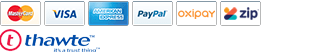 Payment methods accepted: American Express. Mastercard. Visa. PayPal.